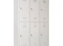 Метален шкаф за дрехи за 6 души-200/120/40 см